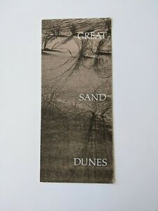 1977 GREAT SAND DUNES NATIONAL MONUMENT GUIDE MAP & TOURIST BROCHURE, COLORADO