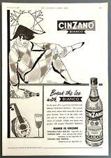 CINZANO BIANCO - Vintage Magazine Advert (10 December 1960) Drink *