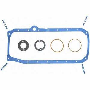 Fel-Pro Os34500r Oil Pan Gasket SBC 86 & Later One Piece Rear Main Seal