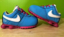 NIKE SHOX Baby Toddler Size 4C Blue And Pink