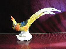 Karl Ens Porzellan Vogel Figur handbemalt Top Zustand Goldfasan Fasan bunt 31 cm