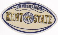 """KENT STATE """"golden flashes""""  NCAA  football  SHAPED"""" 1950s decal/STICKER/ rare"""