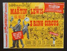 Pressbook Paramount Showmanship Manual 3 RING CIRCUS Martin & Lewis Movie 1954