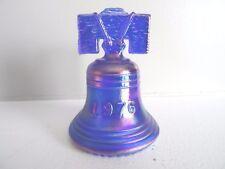 Joe St. Clair Glass Cobalt Blue Carnival SATIN Bicentennial LIBERTY BELL