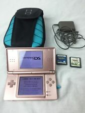 Nintendo DS Lite Metallic Rose System Wrong Stylus & GBA Cover Loose 2 games