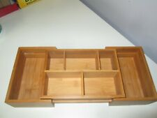 "Bamboo Expandable  Drawer Organizer with 7 Compartments 7"" by 16.5"""