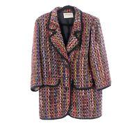 Vintage Jaeger Women's Coat Jacket Size 14 1980's Colorful Wool Blend