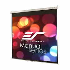 Elite Screens M85Xws1 85-inch 1:1 Manual Pull Down Theater Projector Screen