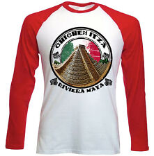 CHICHEN ITZA - MEXICO - NEW RED SLEEVED TSHIRT