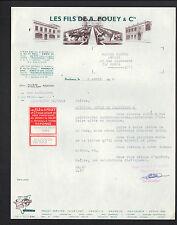 """BORDEAUX (33) BUREAUX D'EXPERTISE / CONSEILLER """"Les FILS de A. POUEY"""" en 1966"""