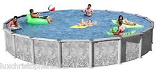"Swim N Play Round 15' x 54"" Above Ground Hybrid Saltwater Swimming Pool Package!"