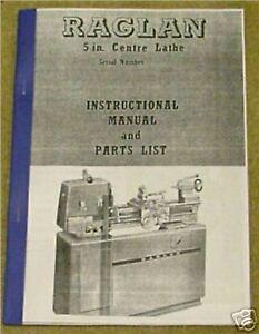 Raglan 5 Centre lathe Operating & Maintenance Manual