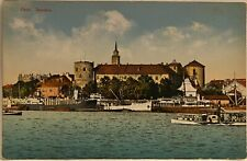 Riga LATIVIA ~ Riga Castle On River Daugava ~ Antique Postcard