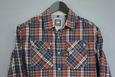 MAA179 Men G-Star Raw Denim 5620 Ski Crayion Check Cotton Casual Shirt Size L