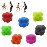 Color Sport Silicone Hexagonal Ball Fitness Exercise Reaction Training Equipment