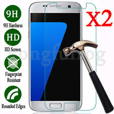2X 9H Tempered Glass Film Screen Protector For Samsung Galaxy S5 S6 S7 NOTE 4 5