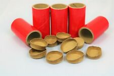"""10 Thick Walled Salute Firework Tubes Shells 1"""" x 2-1/2"""" x 1/8"""" & 20 Paper plugs"""