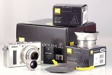NIKON COOLPIX A DX SILVER + DF-CP1 OPTICAL FINDER + UR-E24 HN-CP18 NEW IN BOX