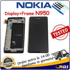 TOUCH  VETRO + LCD DISPLAY +FRAME Microsoft Lumia 950 ORIGINALE NERO