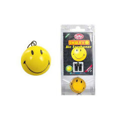 Carplan 3D Smiley Face Hanging Vent Air Freshener Freshner Car - Vanilla Scent