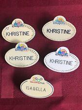 DISNEYLAND Walt World California CAST MEMBER NAME BADGE Khristine Isabella lot 5