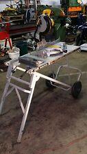 """Dewalt Dw703 10"""" Compound Miter Saw With Ridgid MS-UV Miter Saw Utility Table"""