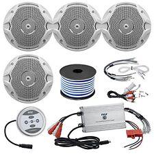 """4 X Infinity 6.5"""" Marine Speakers, Marine Grade Speaker Wire, Marine Amp"""