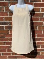 Kate Moss for Topshop Iridescent Shimmery Beige Gold Mini Dress Size 8 Small