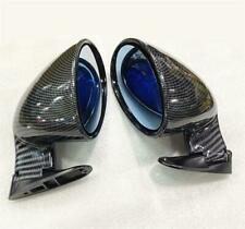 1 Pair ABS Carbon Fiber F1 Style Side Wing Rear View Mirror Fit For Car Truck