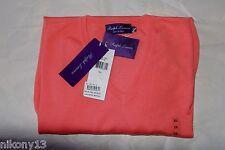 $995 NWT Authentic Ralph Lauren Purple Label 100% Cashmere V-Neck Coral Sweater