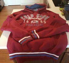 VINTAGE 1995 COLORADO AVALANCHE NHL Hockey Hoodie Sweatshirt, Excellent Cond XXL