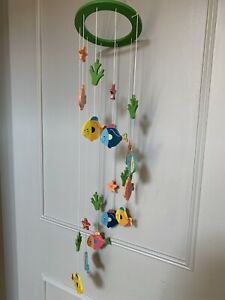 Wooden baby mobile - Fish Theme