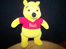 Stuffed Animal Winnie the Pooh Baby Soft Body Mattel Disney Red Shirt Yellow