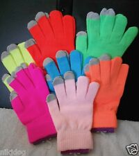 Winter Texting Gloves Bright Neon Colors
