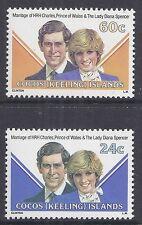 1981 COCOS ISLANDS ROYAL WEDDING SET OF 2 FINE MINT MUH/MNH