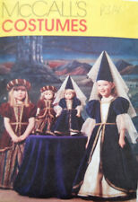 """McCalls 2383 18"""" Girl Doll Matching Pattern Medieval Costumes Size 6-7-8 - Uncut"""