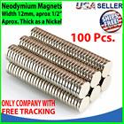 100 Neodymium Magnets Round Disc N35 Super Strong Rare Earth 12mm X 2mm Fridge photo