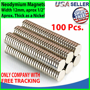100 Neodymium Magnets Round Disc N35 Super Strong Rare Earth 12mm X 2mm Fridge