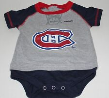 NHL Montreal Canadians Reebok Kids 12 Months Grey One Piece