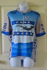 Blue & White Men's GIORDANA CANE CREEK cycling jersey Half zip Short sleeve