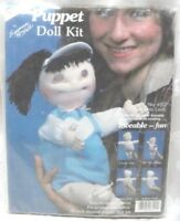 """Puppet Doll Kit 14"""" Suzanne McNeill 1984 LOVEABLE LINDY USA Needlework Crafts"""