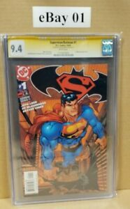 SUPERMAN / BATMAN #1 CGC SS 9.4, NM, WP, SIGNED ED MCGUINNESS (DC COMICS)