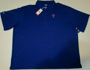 New Texas Rangers MLB Baseball Antigua polo golf shirt Blue men's 3XL or 4XL NWT