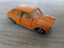 Majorette No. 203, Fiat 127, 1/55, made in France, orange