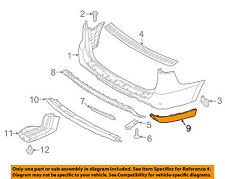 KIA OEM 15-16 Sedona-Bumper Trim-Molding Trim Right 86674A9500