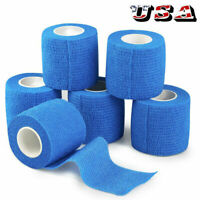 "2""x5yd Stretch Elastic Tape Cohesive Bandage First Aid  Wrap Vet US Stock"