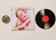 Miniature record album Barbie Gi Joe 1/6 Playscale Van Halen 1984 Rock music