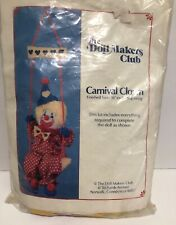 Carnival Clown Vintage The Doll Makers Club Kit 16 Inch Clown With Swing