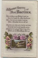 HALIFAX Yorkshire Birthday Greetings BROTHER Vintage Colour Lilywhite PC 1920s