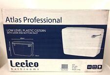 LECICO ATLAS Professional Bathroom Low Level Toilet Cistern Lever & Bottom Inlet